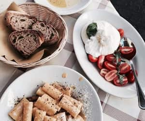 food, pasta, and bread image