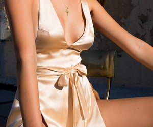 dress, outfit, and silk image
