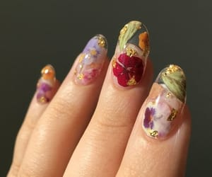 art, flowers, and nail art image