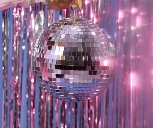 bling, disco ball, and mirror ball image