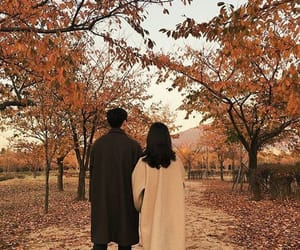 aesthetic, autumn, and couple image