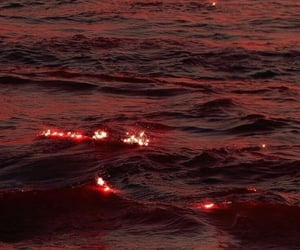 red, aesthetic, and ocean image