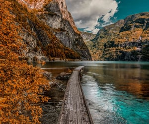 autumn, blue sky, and clouds image