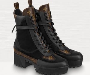 black boots, louis vouiton, and boots image