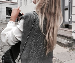 autumn, blonde, and fashion image