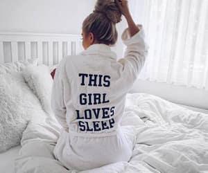 girl, sleep, and white image