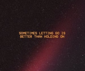 english, letting go, and quote image