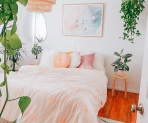 bed, bedroom, and bright image