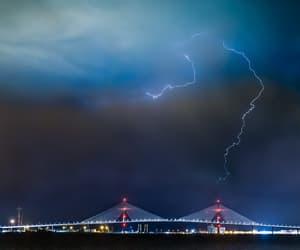 bridge, lightning, and natur image