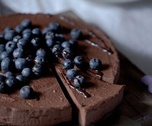chocolate, blueberry, and dessert image