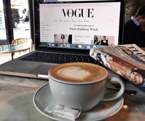 coffee, vogue, and cafe image