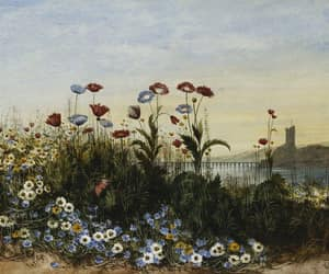 19th century, art, and flowers image