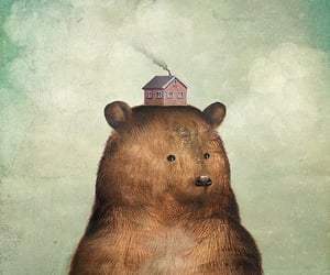 art, bear, and nature image