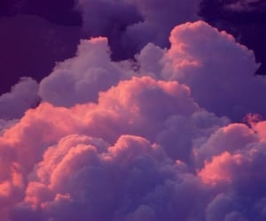 clouds, pink, and background image