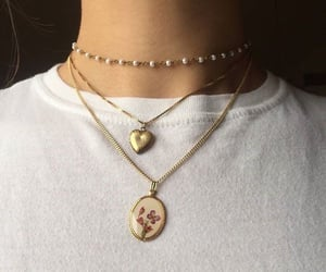 necklace, gold, and style image