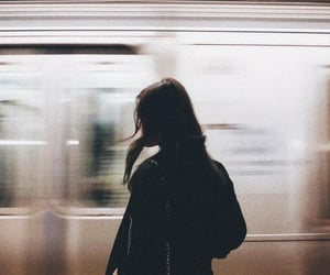 girl, train, and aesthetic image