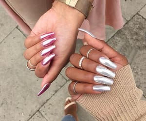 fake nails, make-up, and nails image