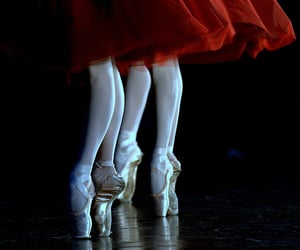 ballet, ballerina, and red image