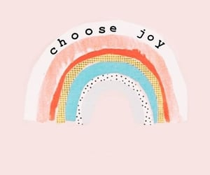 quotes, joy, and rainbow image