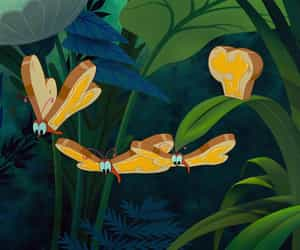 alice in wonderland, animation, and butterflies image
