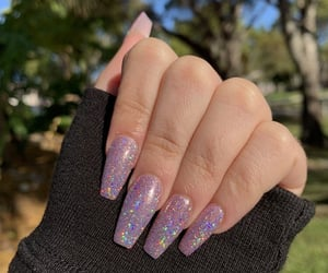 nails, aesthetic, and glitter image