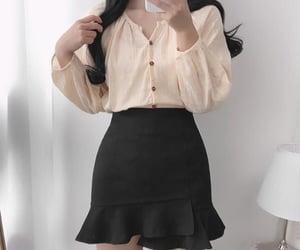 fashion, korean fashion, and outfit image