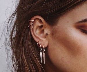 fashion, piercing, and earrings image