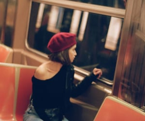 beret, bus, and city image