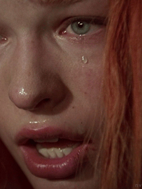 crying, tear, and Fifth Element image