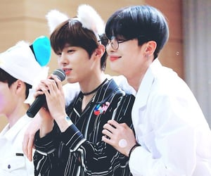 x1, kim wooseok, and han seungwoo image