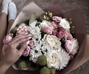 aesthetic, bloom, and bouquet image