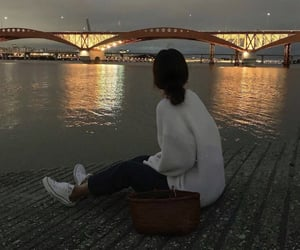 aesthetic, asian, and bridge image