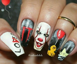 it, nails, and clown image