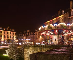 brittany, merry-go-round, and night image