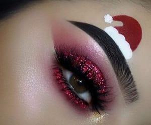 art, christmas, and eyes image