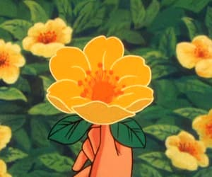 aesthetic, flower, and gif image