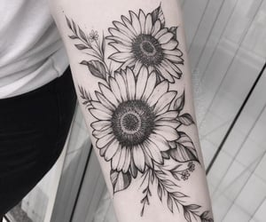 ink, tattoo, and art image
