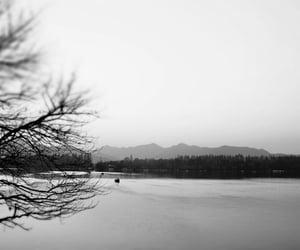 black and white, china, and lake image