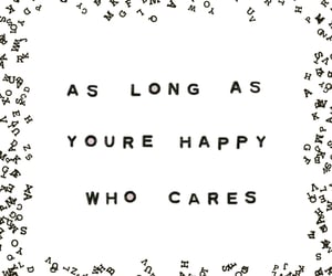 black and white, happiness, and quote image