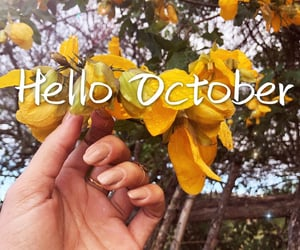 october, hello, and welcome image
