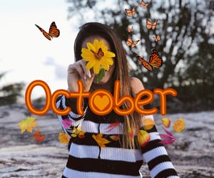 autumn, girl, and autoral image