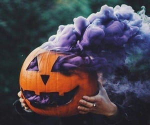 Halloween, pumpkin, and purple image