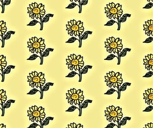 pattern, wallpaper, and yellow image