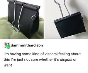 bag, clip, and funny image