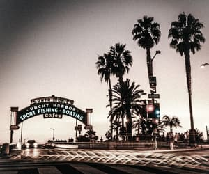santa monica, beach, and city image