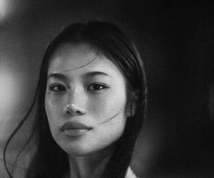 black and white, face, and pretty image