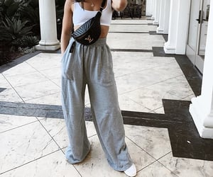 designer, outfit, and sweatpants image
