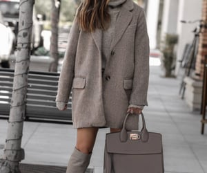 blogger, fashion, and grey image
