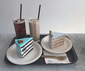 food, breakfast, and cake image