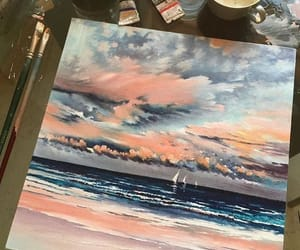art, clouds, and paint image